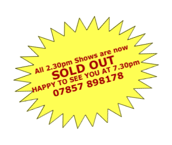 All 2.30pm Shows are now